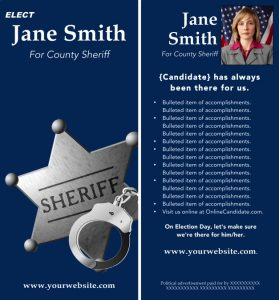 Blue Sheriff Brochure Template