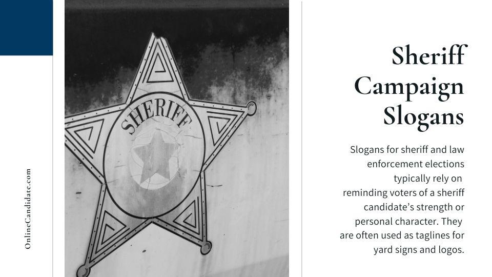 Sheriff Campaign Slogan Tips